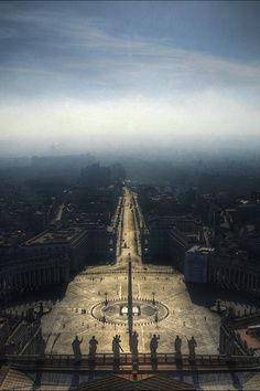 Aerial view of the Vaticano, Rome, Italy.