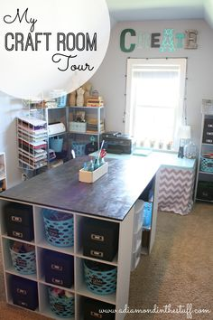 My Craft Room Tour @ www.adiamondinthestuff.com