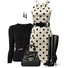 """Chic Black Boots"" by daiscat on Polyvore"