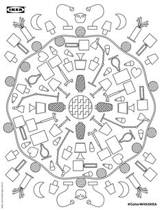 On the Creative Market Blog - Because Everybody Needs an Ikea Coloring Book for Adults