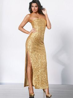 Featuring A Devastatingly Y Side This Dress Sets The Gold Standard In Glamour