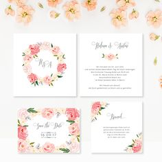 "wedding invitation ""Le Jardin"" by Bonjour Paper"
