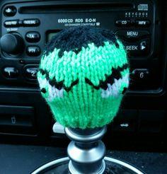 Hulk Style Gear Knob Beanie Hat by NutkinsKnits on Etsy