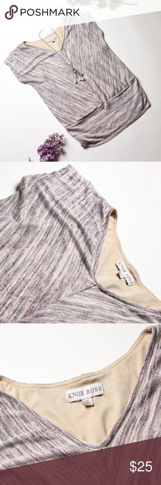 KNOX ROSE Blush Knit Blouse Top Shirt - Size M Really Pretty! Would look great with jeans, and a beautiful long necklace.   •Size Medium •Pre-owned in great condition •No pets, Non Smoker Home •Bundle with at least one more item for a private discount Knox Rose Tops