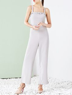 Shop Jumpsuits - Polyester Spaghetti Elegant Bow Jumpsuit online. Discover unique designers fashion at StyleWe.com.