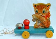 1950's Fisher Price Kitty Pull Toy - Photo by socal72girl.