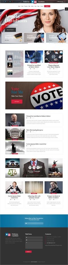 Candidates - Political and Activism HTML5 Template - ngo templates