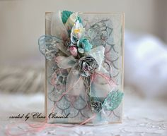 Donna Salazar Designs: Springtime Butterfly Card by ~ Elena Olinevich ~ with tutorial