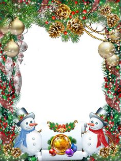 Christmas Photo Frame Templates for FREE Download | Clipart and ...