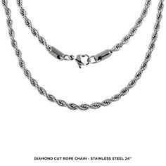 unisex eleganza classica chain necklace in stainless steel assorted styles