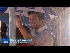 What happens when The Weather Channel makes it rain? - interesting way to promote a mobile app