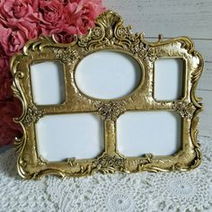 Check out this item in my Etsy shop https://www.etsy.com/listing/469441607/victorian-gold-photo-frame-gold-roses