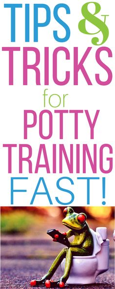Potty training doesn't have to be hard, time consuming, or stressful. Potty train your child quickly using these tips and tricks!