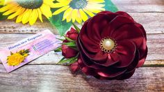 Flower Brooch, Headbands, Bows, Flowers, Diy, Fabric Flowers, Arches, Head Bands, Bricolage
