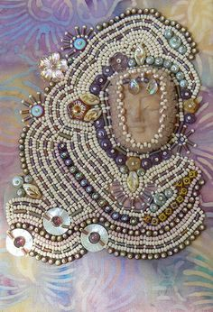 I ❤ the beadwork . . .   Maybe May- This might be May's bjp but I had another piece all ready to go when this one insisted on being done, so I'll do the other one too and then see which one is more may-like.-by beadbabe49