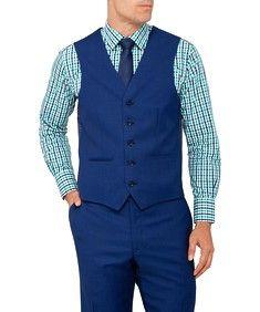 Van Heusen Mens Euro Fit Suit Vest Cobolt