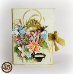 Vintage Odyssey: Wedding Diary! Graphic45 & Prima marketing flowers...