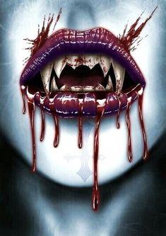 Vampire Love, Female Vampire, Vampire Art, Arte Horror, Horror Art, Vampire Pictures, Gothic Fantasy Art, Vampires And Werewolves, Monsters
