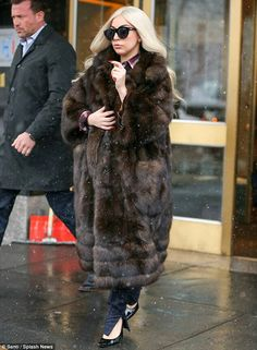 Lady Gaga in a Helen Yarmak sable