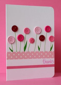 flower cards Just stopping by to share a card which has been inspired by the washi tape challenge at Less is More, the floral fantasy challenge at CAS on Sunday and the current Muse challenge where Marion Vagg Handmade Birthday Cards, Happy Birthday Cards, Greeting Cards Handmade, Tarjetas Diy, Button Cards, Paper Cards, Flower Cards, Creative Cards, Homemade Cards