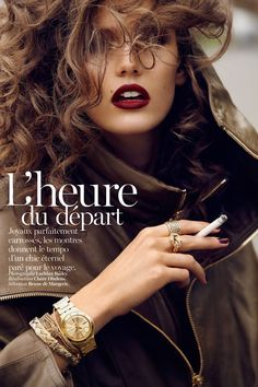Kendra Spears is on the Go for Vogue Paris November 2012, Lensed by Lachlan Bailey