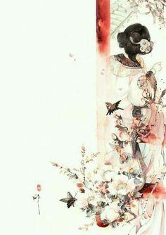 by Ibuki Satsuki/ Asian art Chinese Artwork, Chinese Painting, Oriental, Art Asiatique, China Art, Belle Photo, Japanese Art, Art Girl, Fantasy Art