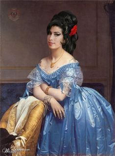 Amy Winehouse | 25 Classic Paintings Improved By Celebrities