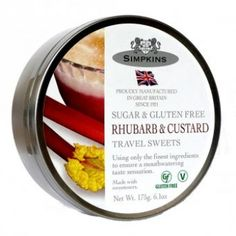 Simpkins Sugar Free Travel Sweets - Rhubarb and Custard