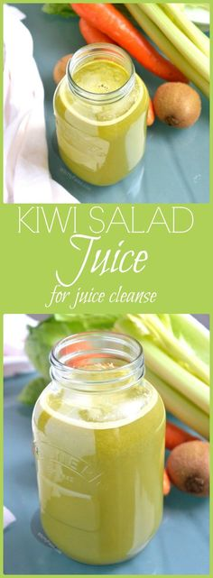 Kiwi Salad Juice for Juice Cleanse  Fast via @WhittyPaleo