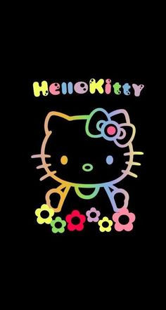 Pin by kimberly rochin on black hello kitty Hello Kitty Art, Hello Kitty My Melody, Hello Kitty Pictures, Hello Kitty Birthday, Sanrio Hello Kitty, Kitty Cam, Hello Hello, Hello Kitty Iphone Wallpaper, Hello Kitty Backgrounds