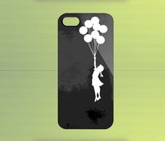 Banksy Girl Ballon for iPhone 4/4S iPhone 5 Galaxy S2/S3/S4 & Z10 | WorldWideCase - Accessories on ArtFire