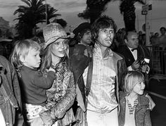 May 21, 1971. With Keith, Dandelion Angela and Marlon Richards at the Cannes Film Festival.