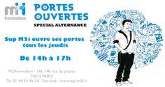 Journées Portes Ouvertes chez Sup M2i (Rue de Picpus - Paris 12ème) - Tous les jeudis de 14h à 17h