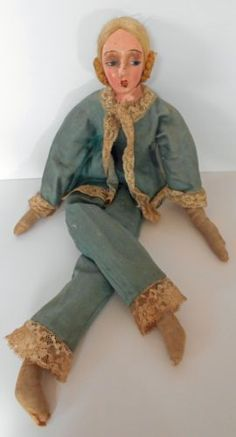 1920s-Orig-All Composition Smoking-Boudoir-Doll