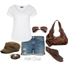 Summer Fashion #summer #fashion I need the perfect not snagging WHITE top... not digging the shoes but love the rest!