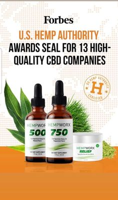 Hempworx was one of thirteen companies to receive a seal from the US Hemp Authority for highest quality CBD oil. Cbd Hemp Oil, Cannabis Plant, Cannabis Growing, Drug Test, Medical Advice, Pain Relief, Health And Wellness, Health Tips, The Cure