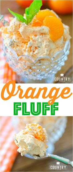 """Healthy Weight Weight Watchers Orange Fluff recipe from The Country Cook - Orange Fluff also called Orange Delight, Weight Watchers Dessert, or """"The Orange Stuff."""" Cool Whip, Mandarin Oranges, Jell-O and marshmallows! Weight Watcher Desserts, Weight Watchers Meals, Weight Watchers Fluff Recipe, Jello Recipes, Ww Recipes, Diabetic Recipes, Healthy Recipes, Recipies, Cake Recipes"""