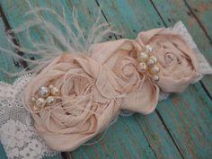 Shabby Chic Headband Baby Girl