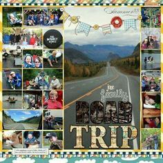 HM Gallery - Road Trip Scrapbooking Layout - See more at: www.