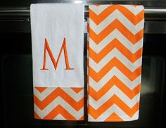 Monogrammed Kitchen Towels or Hand Towels in by DesignsByThem...might need to get these for the kitchen!