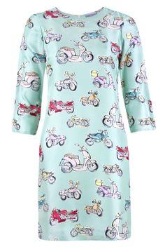 Chic print silk dress. So quirky, so Vilagallo!