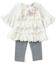 5f935ad48877 Rare Editions Baby Girls 3-24 Months Gingham Pumpkin Top & Legging Set |  Dream life | Tops for leggings, Girl outfits, Tops