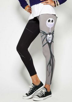 licensed jack skellington leggings @ delia's