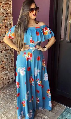 African Dresses For Kids, African Fashion Dresses, Indian Fashion, Elegant Summer Dresses, Cute Dresses, Casual Dresses, Latest Fashion Design, Girl Fashion, Fashion Outfits