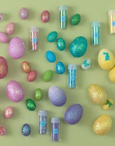 glitter egg decorations