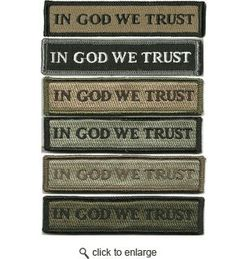 In GOD WE Trust Morale Patches (Back Of Hat)