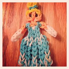 Latest & Greatest creation by Alex of Arctic Tiki..#Disney Princess Cinderella a la #RainbowLoom
