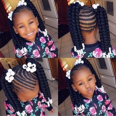 2019 Lovely Stunning Braids for Kids Crochet Hair Styles crochet hair styles for kids Little Girl Braids, Black Girl Braids, Braids For Kids, Braids For Black Hair, Girls Braids, Kids Braids With Beads, Kid Braids, Black Kids Hairstyles, Baby Girl Hairstyles