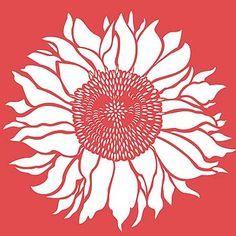 sunflower stencil - Pesquisa Google