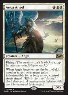 Aegis-Angel-x4-Magic-the-Gathering-4x-Magic-2015-mtg-rare-card-lot-white